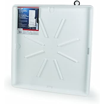 """Camco 20762 30""""OD x 28"""" Washing Machine Drain Pan for Stackable Units w/PVC Fitting (White) - Inner dimensions: 25""""x27"""""""