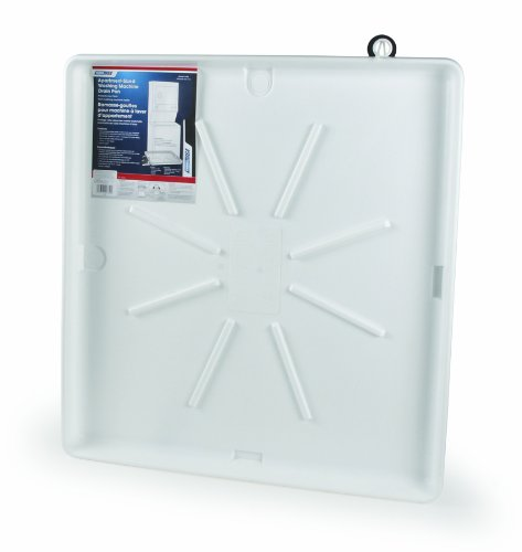 Camco 20751 32″ OD x 30″ Washing Machine Drain Pan with Pvc Fitting, 30″ x 32″, White