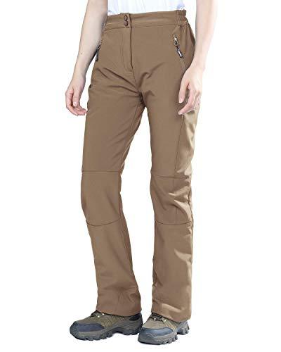 - Outdoor Ventures Women's Idra Softshell Fleece Lined Insulated Waterproof Hiking Ski Snow Pants Light Brown