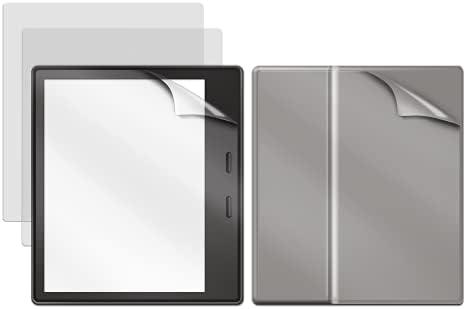 GuardV Film Series for Kindle Oasis – 3 Screen Protector + 1 Back Protector Total 4 Pack – Anti Glare and Anti Fingerprint Matte Film