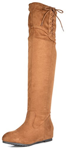 Dream Pairs Women's Fashion Over The Knee Heel Boots