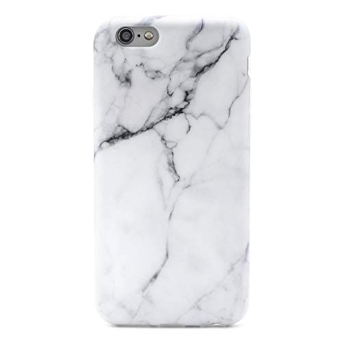 (GOLINK iPhone 6/6S Case Slim-Fit Ultra-Thin Anti-Scratch Shock Proof Dust Proof Anti-Finger Print TPU Case for iPhone 6/iPhone 6S (4.7 inch) - Whole White Marble)