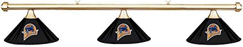 Imperial NBA Golden State Warriors Black Shade & Brass Bar Billiard Pool Table Light (Warriors Golden State Pool)
