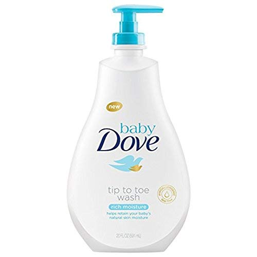 Dove Baby Tip to Toe Wash, Rich Moisture, 20 fl oz (Pack of 2)
