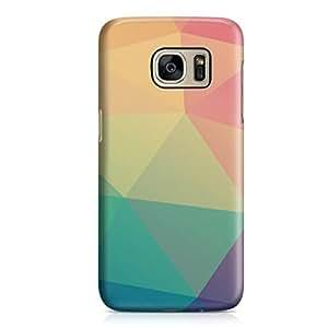 Samsung S7 Edge Case Multicolor Geomaterical Pattern Hard Plastic Tough Samsung S7 Edge Cover Wrap Around