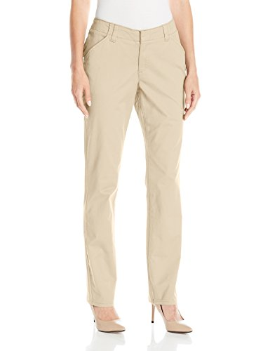 LEE Women's Midrise Fit Essential Chino Pant, Vintage Bungalow Khaki, 8