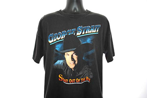 1995 George Strait Vintage Check Yes or No Era Strait Out of the Box Greatest Hits Box Set Promo Classic 90's Country Music Tour T-Shirt Gift T-Shirt for Men - Set Promo