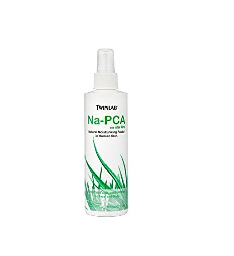 Twinlab Na-PCA, Non-Oily, with Aloe Vera, 8 Fluid Ounce (237 ml) (Pack of 4)