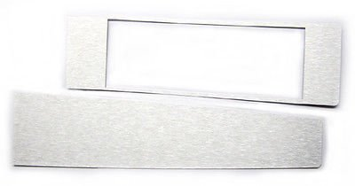 The Parts Place Chevelle Silver Console Insert Kit Aluminum - Automatic Transmission