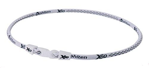 PHITEN X50 Original Necklace, White, (White Phiten Titanium Necklace)