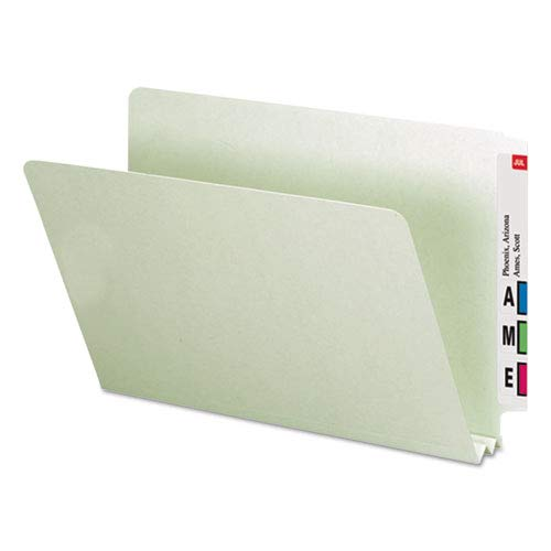 25//Box Two Inch Expansion End Tab Smead Heavy Duty Folders Gray Green Legal