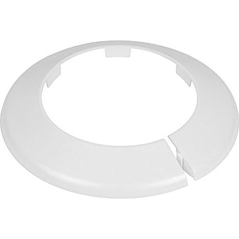 Collar embellecedor para tuberías de suelo, 110 mm, color blanco: Amazon.es: Bricolaje y herramientas