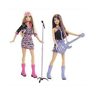 Barbie I Can Be a Rock Star Two Pack Set with Guitar and Microphone