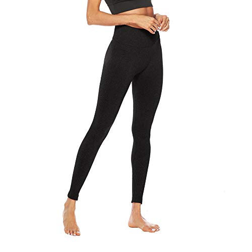 Women's Fitness Sport Capris Solid Line High Waist Workout Ruche Booty Thights Yoga Athletic Leggings (XL, Black) by FDSD Women Pants (Image #4)