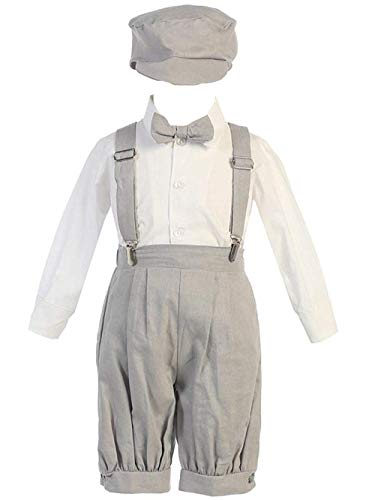 - iGirldress Little Boys' Suspender Knickers with Hat 12-18mos Light Grey