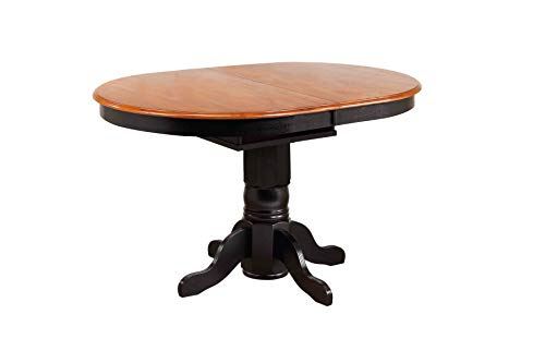 Sunset Trading DLU-TBX4266CB-BCH Black Cherry Selections Dining Table, Distressed Antique (Antique Cherry Drop Leaf Table For Sale)