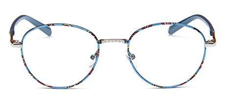 Embryform lunettes rondes cadre ultra mince paquet de tringle cadre fleur miroir myopie admirable 9739