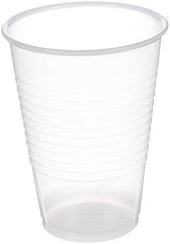 (AmazonBasics Plastic Cups, Clear - 12-Ounce, 500-Pack)