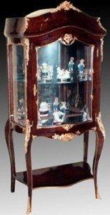 Barock Vitrine Rokoko Antik Stil Schrank Louis XV MoVi0853