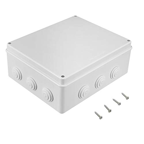 "Awclub ABS Plastic Dustproof Waterproof IP65 Junction Box Universal Electrical Project Enclosure White 11.8""x9.8""x4.7""(300mmx250mmx120mm)"