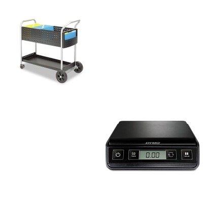 KITPEL1772055SAF5239BL - Value Kit - Safco Scoot Mail Cart (SAF5239BL) and Dymo M3 Digital Postal Scale (PEL1772055) by Safco