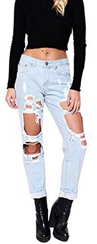Ropa Mezclilla Alta Mujeres Agujeros Pantalón Pantimedias Fashion Jane Stretch Pantalones Vaqueros Casuales De Cher Saoye Denim Las Cintura Hellblau w4P7aFxq