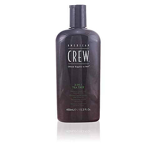 American Crew 3-In-1 Tea Tree Body Cleanser, 15.02 Ounce (Best Face Wash For 11 Year Old)