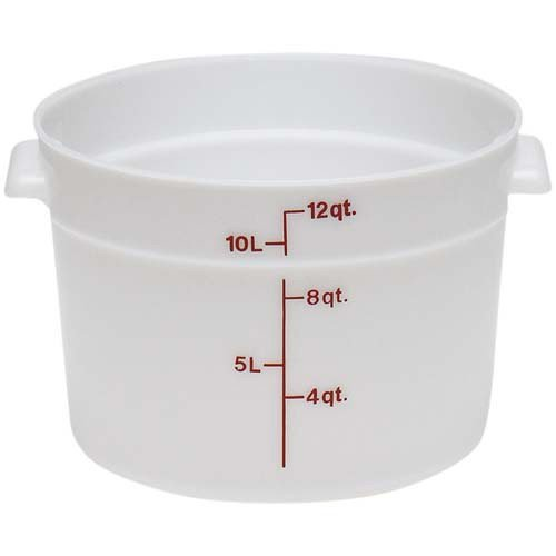 Cambro RFSCW12135 Round Storage Container, 12 Quart Capacity, Clear