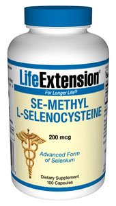 Life Extension Se-méthylsélénocystéine 200 capsules, 100 Mcg-Count