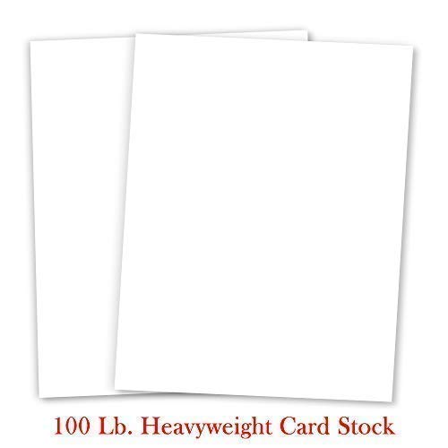 50 Sheet Weight - White Cardstock - For School Supplies, Kids Art & Crafts, Invitations, Business Card Printing | Extra Thick 100 lb Card Stock, 8.5 x 11 inch, Heavy Weight Hard Cover Stock (270 gsm) 50 Sheets Per Pack