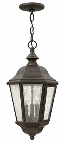 Hinkley 1672OZ-LL Edgewater Outdoor Pendant, 3-Light LED 15 Total Watts, Oil Rubbed Bronze