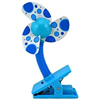 Bettli Mini Safety Baby Clip-on Stroller Dual-use Usb/battery Cooling Fan (Blue)