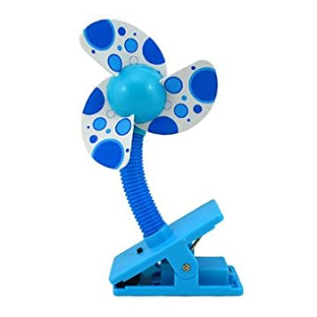 Bettli Mini Safety Baby Clip-on Stroller Dual-use Usb/battery Cooling Fan (Blue) B-COFB
