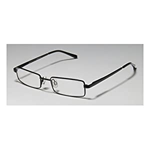 D&A Ie197 Swirl Unisex/Boys/Girls/Kids Rectangular Full-rim Flexible Hinges Eyeglasses/Spectacles (46-16-125, Black)