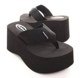 79644b560619f Image Unavailable. Image not available for. Color  Soda Oxley Women s Foam  Platform Thong Flip Flop Beach Sandals Black Size 9
