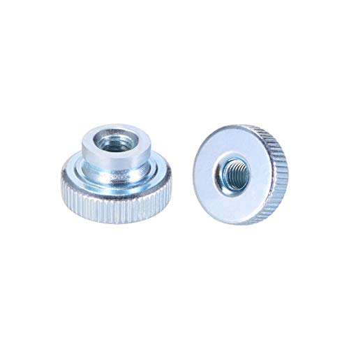 uxcell Knurled Thumb Nuts, M5 Round Knobs with Collar, Zinc Plating, Pack of 20