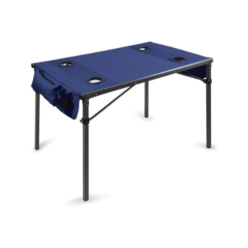 Picnic Time Portable Soft Top Travel Table, Navy