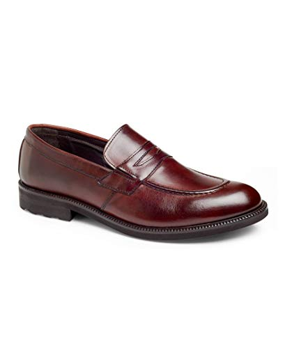 Anthony Veer Walton Men's Penny Loafer Slip-on Dress Shoes in Premium Italian Leather with XL EXTRALIGHT Outsole Lightweight Flexible Comfortable for Office Formal Business Wear(8 D US, ()