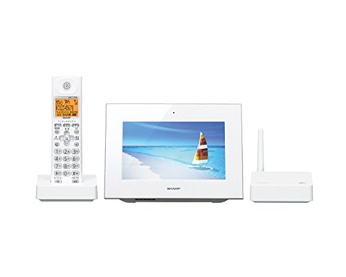 Dect White Lcd - Sharp hands-free phone wide 7-inch LCD monitor child equipped with one 1.9GHz DECT compliant system white-based JD-7C2CL-W