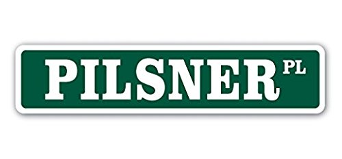 Pale Lager - Pilsner Street Sign Sticker 22'' Long Gift Pale Lager Beer Craft Brew Brewery Drinker Drunk Cold Sticker Sign - Sticker Graphic Sign - Will Stick to Any Smooth Surface