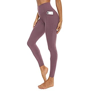 AFITNE Yoga Pants for Women High Waisted Tummy Control Athletic Leggings with Pockets Workout Gym Yoga Pants Red - M