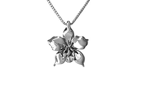 Aloha Jewelry Company Sterling Silver Orchid Necklace