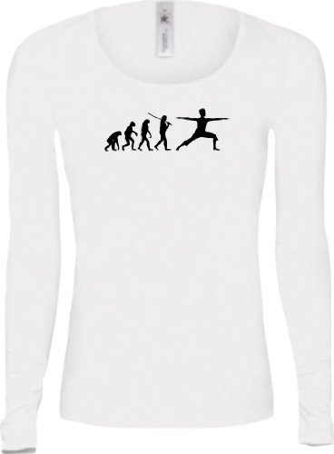 Shirtstown - Camiseta - Manga Larga - Mujer blanco