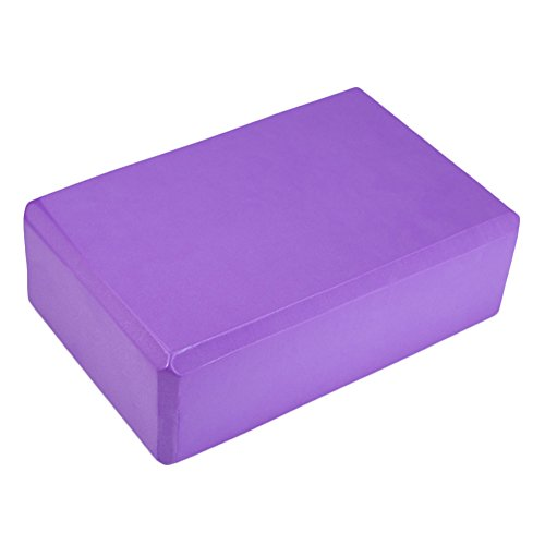 Topbeu Colorful Yoga Block Sports Exercise Gym Foam Workout Stretching Aid Body Shaping Health Training (Purple)