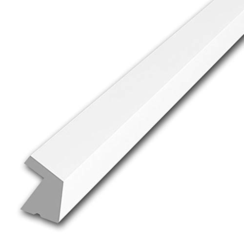 "Orac Decor CX189 Crown Moulding, Polystyrene, Primed White, 1"" H x 78-3/4"" L x 1"" Proj."