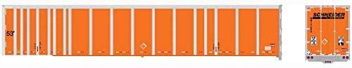Bowser 42091 HO 53` Platewall RoadRailer Trailer Schneider National 143006 6-42091