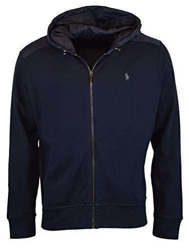Polo Ralph Lauren Men's Estate Rib Full-Zip Logo Hoodie - XXL - Aviator Navy (Fleece Ralph Lauren Mens)