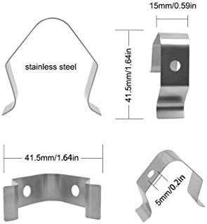 WE-WHLL 2-teiliges Barbeque-Thermometer-Sondenclip-Halter Anti-Rost-Verbrühung, Die Rauch verhindert