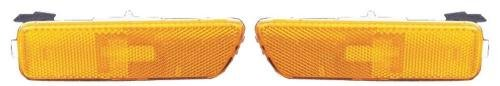 Go-Parts PAIR/SET OE Replacement for 1999-2005 Volkswagen Jetta Side Marker Lights Assemblies/Lens Cover - Front Left & Right (Driver & Passenger) Side For Volkswagen Jetta