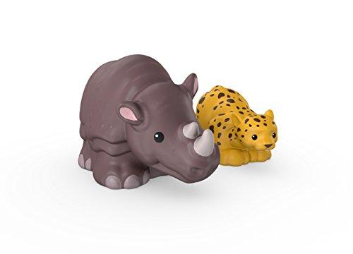 Fisher-Price Little People Leopard and Rhino (Little People Zoo Talkers Monkey)